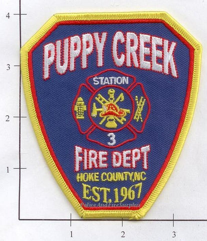 North Carolina - Puppy Creek Station 3, Hoke County Fire Dept Patch