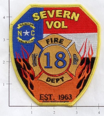 North Carolina - Severn Volunteer Fire Dept Patch