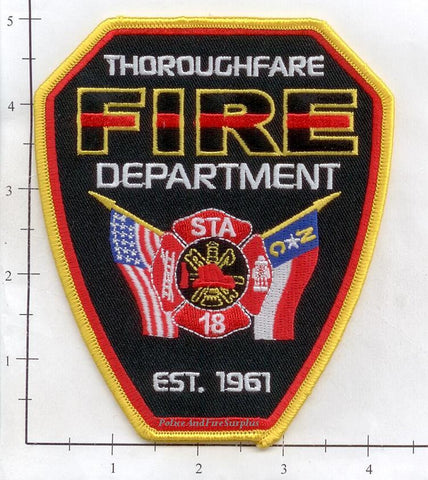 North Carolina - Thoroughfare Station 18 Fire Dept Patch