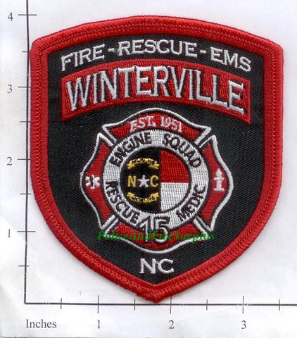North Carolina - Winterville Fire Station 15 Fire Dept Patch v1