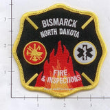North Dakota - Bismarck Fire & Inspections Fire Dept Patch