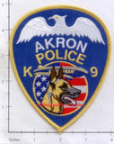 Ohio - Akron K-9 Police Dept Patch