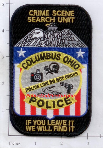 Ohio - Columbus Crime Scene Search Unit Police Dept Patch v1