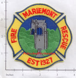 Ohio - Mariemont Fire Rescue Patch v1