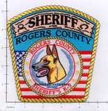 Oklahoma - Rogers County Sheriff K-9 Police Dept Patch