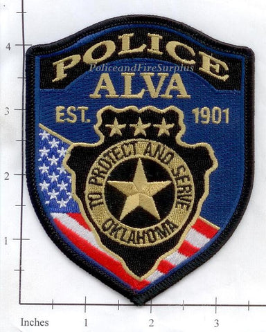 Okahoma - Alva Police Dept Patch
