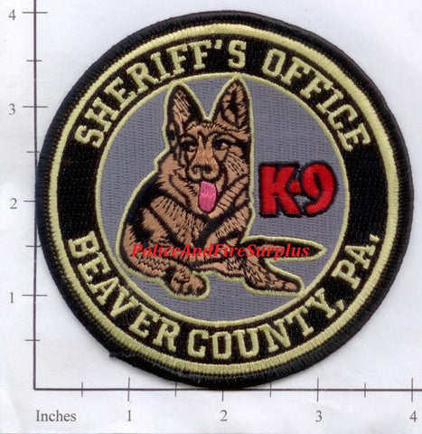 Pennsylvania - Beaver County Sheriff's Office K-9 Police Patch