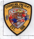 Pennsylvania -  Arnold - Citizen's Fire Company #1 Fire Dept Patch