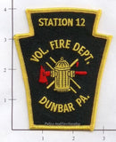 Pennsylvania -  Dunbar Station 12 Volunteer Fire Dept Patch