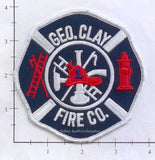 Pennsylvania -  George Clay Fire Company Fire Dept Patch