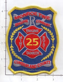 Pennsylvania -  Monroe Township Engine 25 Tanker Mini Boat Fire Dept Patch