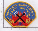 Pennsylvania -  Northern Blair County Forest Fire Crew Fire Dept Patch