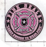 Breast Cancer - Pink Heals Fire Dept Patch