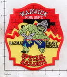 Rhode Island - Warwick Special Hazards, Haz Mat, Heavy Rescue Fire Dept Patch