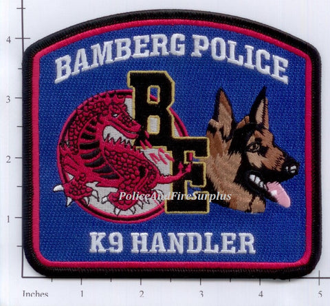 South Carolina - Bamberg K-9 Police Dept Patch