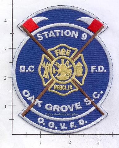 South Carolina - Oak Grove Station 9 Fire Dept Patch