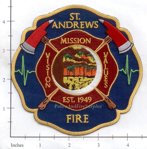 South Carolina - St Andrews Fire Dept Patch