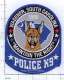 South Carolina - Wagener K-9 Police Dept Patch