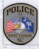 South Carolina - West Union Police Dept Patch