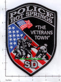 South Dakota - Hot Springs Police Dept Patch v1