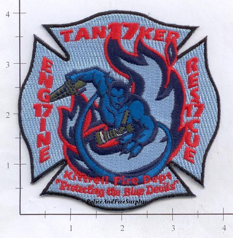 Tennessee - Kittrell Engine 17 Rescue 17 Tanker 17 Fire Dept Patch