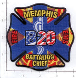 Tennessee - Memphis Battalion 20 Fire Dept Patch