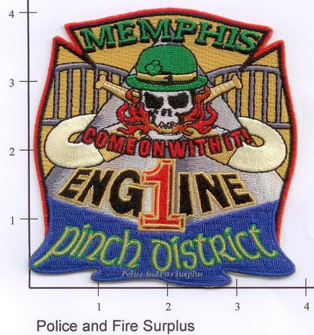 Tennessee - Memphis Engine  1 Fire Dept Patch