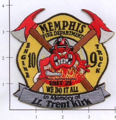 Tennessee - Memphis Engine 10 Truck 9 Unit 21 Fire Dept Patch v1