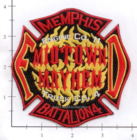 Tennessee - Memphis Engine 11 Truck 4 Battalion 4 Fire Dept Patch