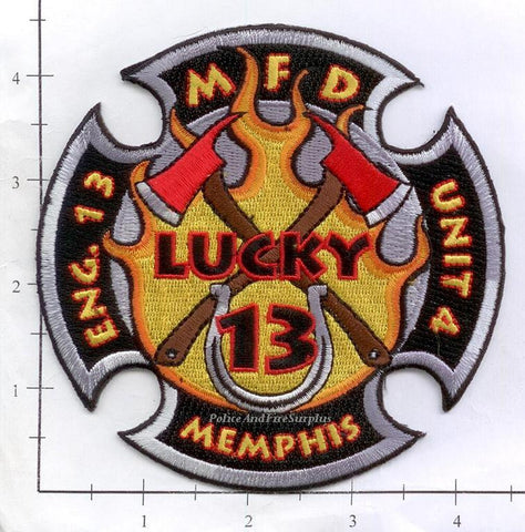 Tennessee - Memphis Engine 13 Unit 4 Fire Dept Patch