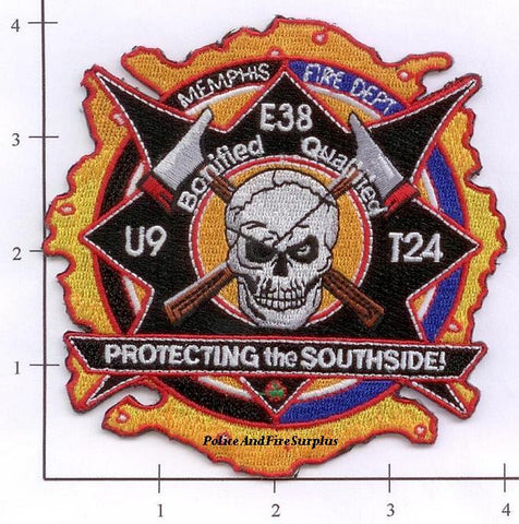 Tennessee - Memphis Engine 38 Truck 24 Unit 9 Fire Dept Patch