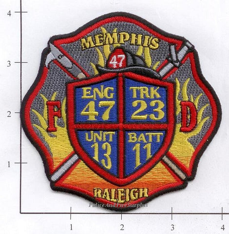 Tennessee - Memphis Engine 47 Truck 23 Battalion 11 Unit 13 Fire Dept Patch