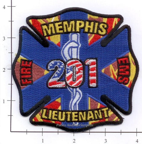 Tennessee - Memphis Lieutenant 201 Fire Dept Patch