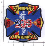 Tennessee - Memphis Lieutenant 209 Fire Dept Patch