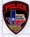 Texas - Cumby Police Dept Patch