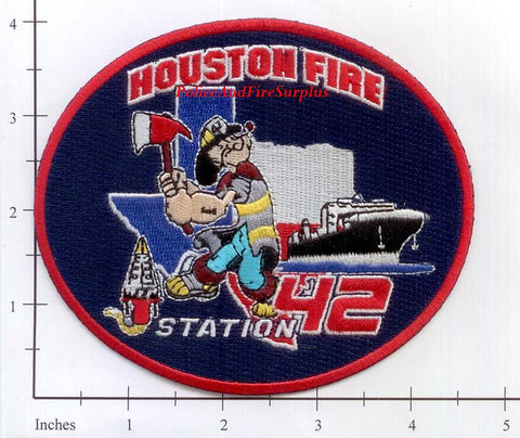 Texas - Houston Station  42 Fire Dept Patch v2 Cut Edge