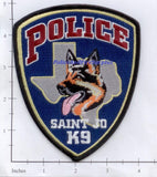 Texas - Saint Jo Police Dept K-9 Patch