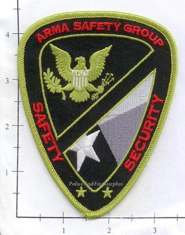 Texas - Arma Safety Group Safety Security Dept Patch