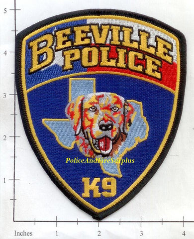 Texas - Beeville Police Dept K-9  Patch
