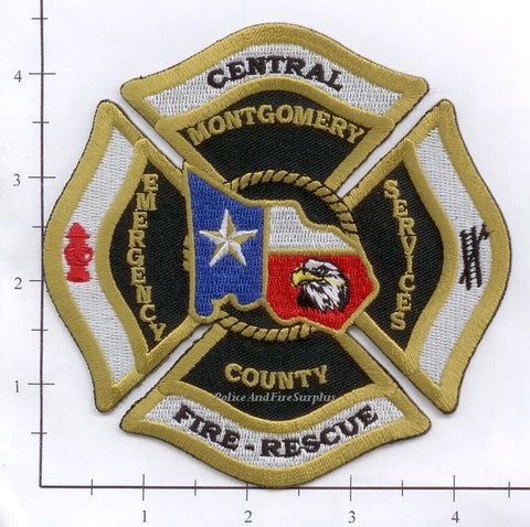 Texas - Montgomery County Central Fire Rescue Fire Dept Patch v1