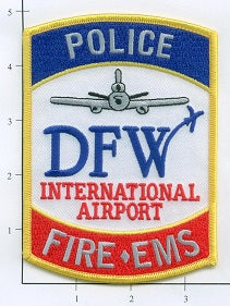 Texas - Dallas Fort Worth International Airport Fire EMS Fire Dept Patch v1