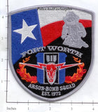 Texas - Forth Worth Arson Bomb Squad Police Dept Patch