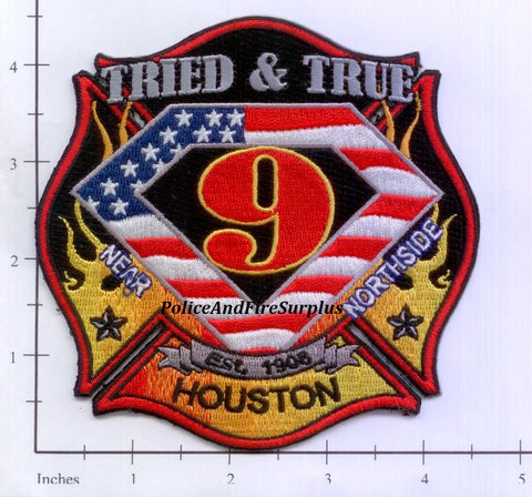 Texas - Houston Station   9 Fire Dept Patch