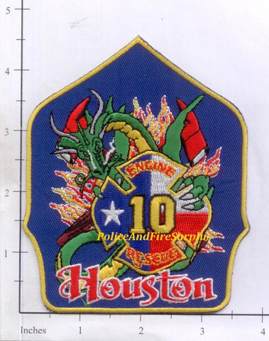Texas - Houston Station  10 Fire Dept Patch v1