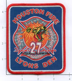 Texas - Houston Station  27 Fire Dept Patch
