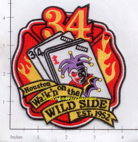 Texas - Houston Station  34 Fire Dept Patch