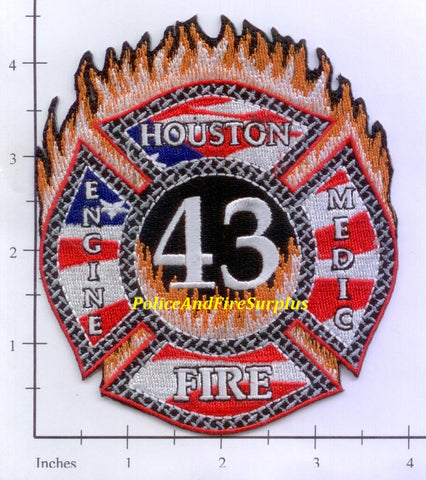 Texas - Houston Station  43 Fire Dept Patch v1