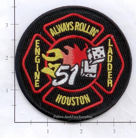 Texas - Houston Station  51 Fire Dept Patch v1