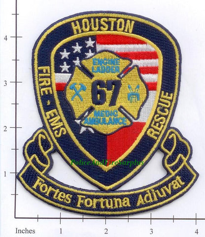 Texas - Houston Station  67 Fire Dept Patch v1