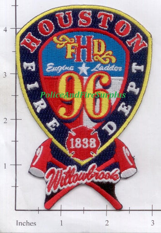 Texas - Houston Station  96 Fire Dept Patch v1